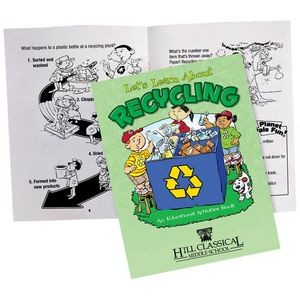 Let's Learn About Recycling Educational Activities Book - Personalization Available