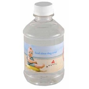 8 Oz. Custom Labeled Bottled Spring Water w/Flat Cap